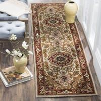 Safavieh Handmade Classic Heriz Gold/ Red Wool Runner Rug - 2'3 x 12'