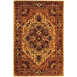 Safavieh Handmade Classic Heriz Gold/ Red Wool Rug (4' x 6')