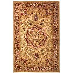 Safavieh Handmade Classic Heriz Gold/ Red Wool Rug - 7'6 x 9'6 - Thumbnail 0