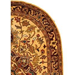 Safavieh Handmade Classic Heriz Gold/ Red Wool Rug (7'6 x 9'6 Oval)