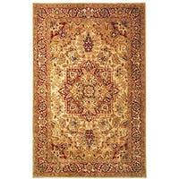 Safavieh Handmade Classic Heriz Gold/ Red Wool Rug - 9'6 x 13'6
