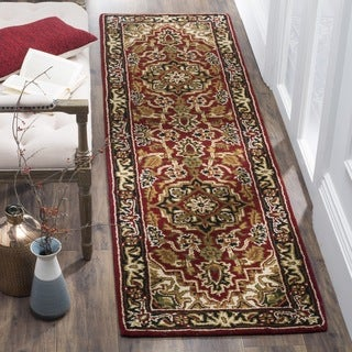 Safavieh Handmade Classic Heriz Red/ Navy Wool Runner (2'3 x 8')