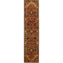 Safavieh Handmade Classic Heriz Red/ Navy Wool Runner (2'3 x 10')