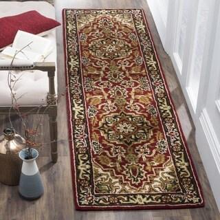 Safavieh Handmade Classic Heriz Red/ Navy Wool Runner (2'3 x 10')