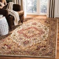 """Safavieh Handmade Classic Heriz Red/ Navy Wool Rug - 7'6"""" x 9'6"""""""