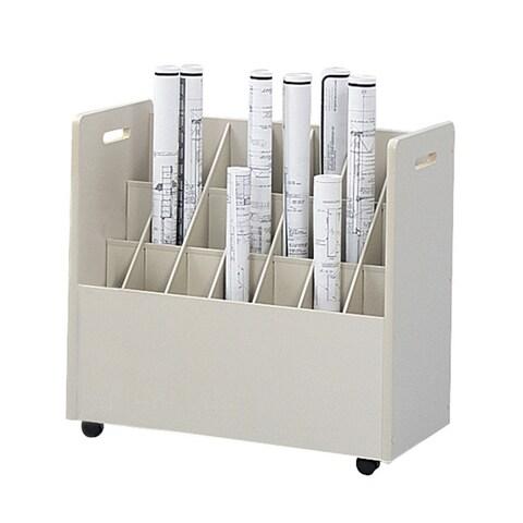 Safco Mobile Roll File, 21 Compartment