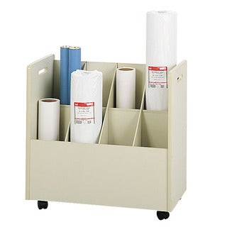 Safco 8-compartment Mobile Roll File