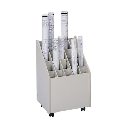Safco Mobile Roll File, 20 Compartment