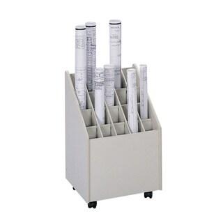 Safco Mobile Roll File, 20 Compartment