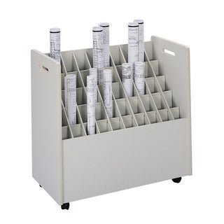 Safco Mobile Roll File, 50 Compartment