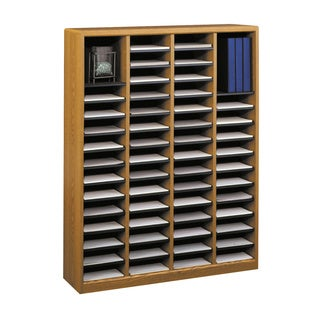 Safco Adjustable Wood Letter Size 24 Compartment