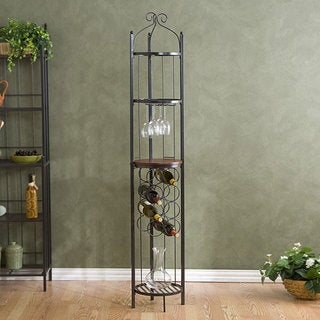 The Curated Nomad Sansome Metal Wine Storage Tower