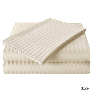 Echelon Home Egyptian Cotton 800 Thread Count Deep Pocket Stripe Sheet Set (4 options available)