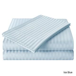 Echelon Home Egyptian Cotton 800 Thread Count Deep Pocket Stripe Sheet Set