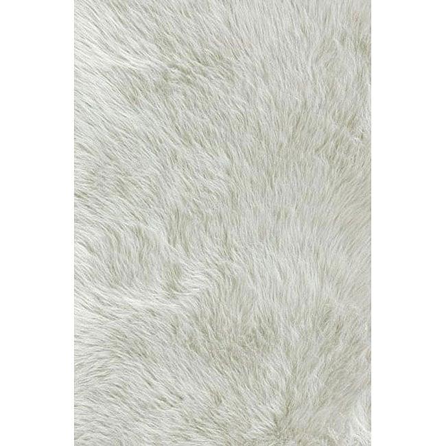 Sheep Skin Jungle White Rug (2' x 3')