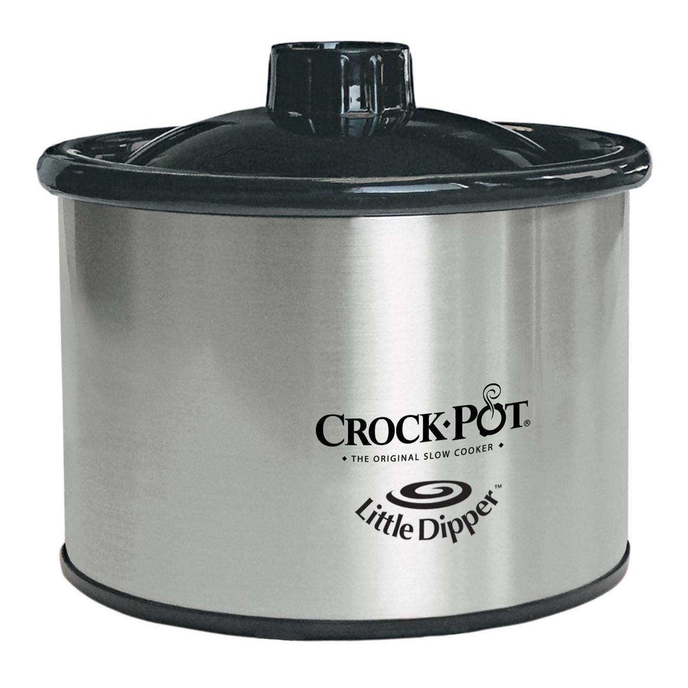 Rival 32041-C Little Dipper Slow Cooker, Grey chrome