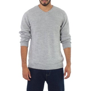 Handmade Alpaca Wool 'Graceful Memories' Men's Sweater (Peru)
