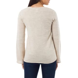 Artisan Charisma Handmade Alpaca Blend Beige Womens Long Sleeve Pullover Sweater (Peru)|https://ak1.ostkcdn.com/images/products/3693232/P11756566.jpg?impolicy=medium