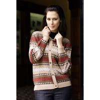Handmade Alpaca Wool 'Earth Honor' Sweater (Peru)