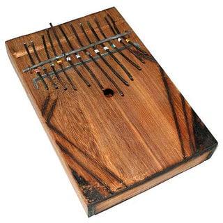 Handmade Black Wood Large Thumb Piano (Kenya)