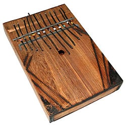 Handmade Black Wood Large Thumb Piano (Kenya)