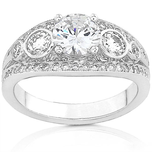 Annello by Kobelli 18k Gold 1 3/4ct TDW Round Vintage Design Diamond Ring (G-H, SI)