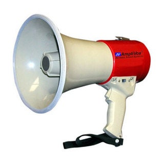 MityMeg Red-and-white 15-watt Piezo Dynamic Weatherproof Megaphone