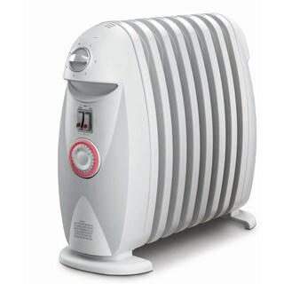 DeLonghi TRN0812T Safeheat 1200-watt Portable Oil-Filled Radiator with GFI Plug and Timer