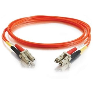 3m LC-LC 50/125 OM2 Duplex Multimode PVC Fiber Optic Cable - Orange