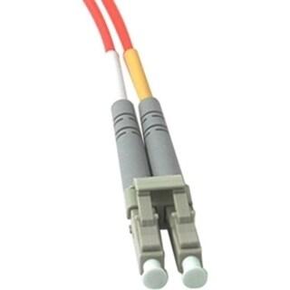 30m LC-LC 62.5/125 OM1 Duplex Multimode PVC Fiber Optic Cable - Orang