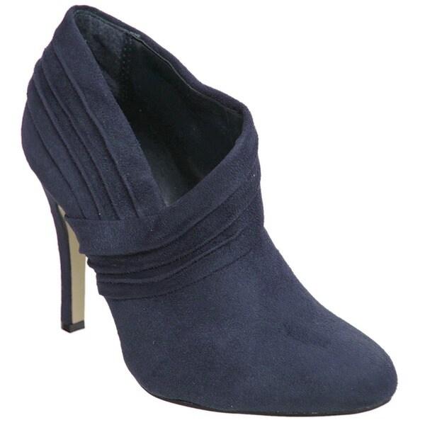 Journee Collection Women's Faux Suede High Heel Booties