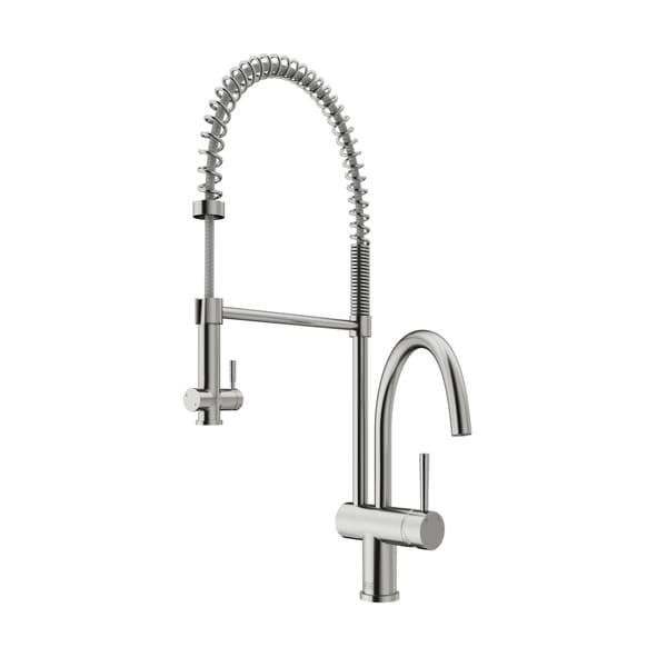 VIGO Dresden Stainless Steel Pull-Down Spray Kitchen Faucet - Free ...