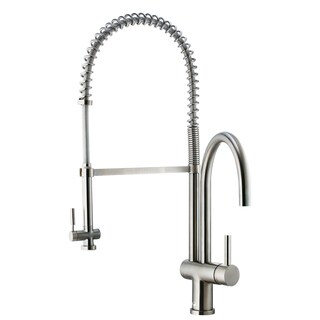 VIGO Dresden Stainless Steel Pull-Down Spray Kitchen Faucet