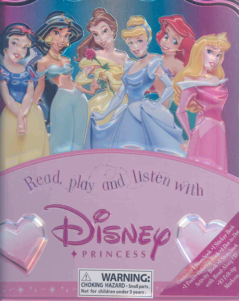 Read, Play and Listen With Disney Princess Activity Tin (Hardcover)