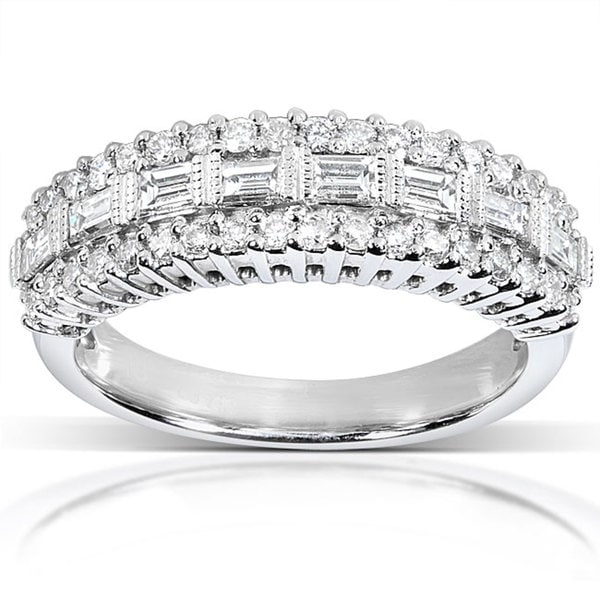 Annello by Kobelli 14k Gold 5/8ct TDW Baguette Diamond Anniversary Band (H-I, I1-I2)