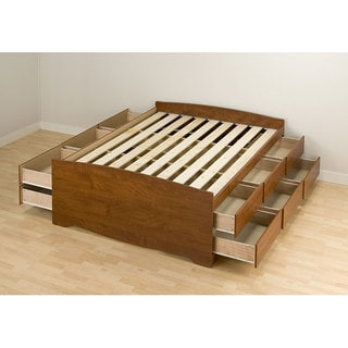 Cherry Tall Full 12 drawer Captain s Platform Storage Bed. Cherry Queen Mate s 6 drawer Platform Storage Bed   Free Shipping