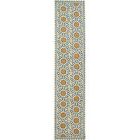 Safavieh Hand-hooked Majestic Ivory/ Blue Wool Runner Rug - 2'6 x 10'