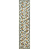 Safavieh Hand-hooked Majestic Ivory/ Blue Wool Runner (2'6 x 12')
