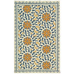 Mastercard Odyssey Rewards Card >> Safavieh Hand-hooked Majestic Ivory/ Blue Wool Runner (2'6 x 6') - Free Shipping Today ...