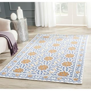 Safavieh Hand Hooked Majestic Ivory Blue Wool Rug 5 3 X