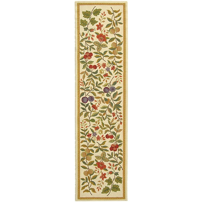 Safavieh Hand-hooked Garden Ivory Wool Runner (2'6 x 12')