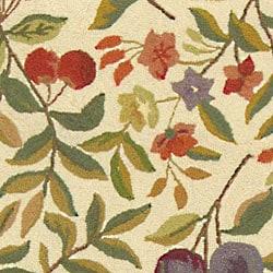Safavieh Hand-hooked Garden Ivory Wool Runner (2'6 x 12') - Thumbnail 1