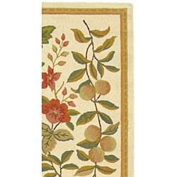 Safavieh Hand-hooked Garden Ivory Wool Runner (2'6 x 12') - Thumbnail 2