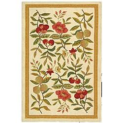 Safavieh Hand-hooked Garden Ivory Wool Runner (2'6 x 4')