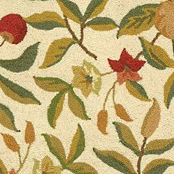 Safavieh Hand-hooked Garden Ivory Wool Rug (2'9 x 4'9) - Thumbnail 1
