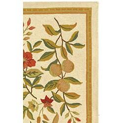 Safavieh Hand-hooked Garden Ivory Wool Rug (2'9 x 4'9) - Thumbnail 2