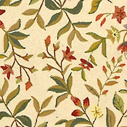 Safavieh Hand-hooked Garden Ivory Wool Rug (5'3 x 8'3) - Thumbnail 1
