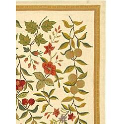 Safavieh Hand-hooked Garden Ivory Wool Rug (5'3 x 8'3) - Thumbnail 2