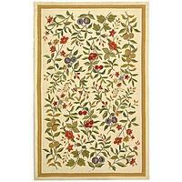 Safavieh Hand-hooked Garden Ivory Wool Rug (5'3 x 8'3) - 5'3 x 8'3