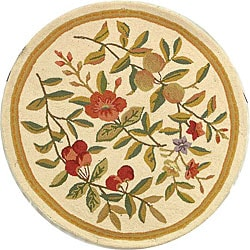 Safavieh Hand-hooked Garden Ivory Wool Rug (5'6 Round)